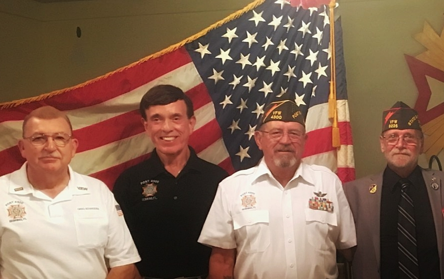 Jr. Vice Greg, Sr. Vice Bob, Commander Dale and our State Commander Dan Anderson