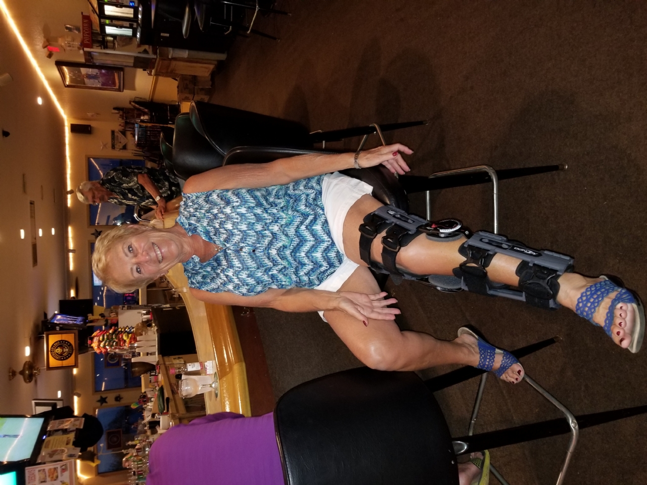 Even with a damaged leg, this member would not miss a day at the VFW.